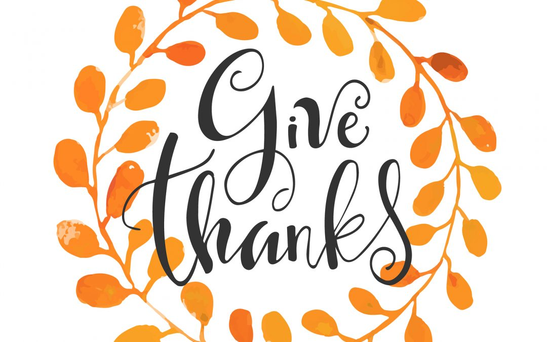Giving Thanks! Time to Give Yourself a Gratitude Check-Up